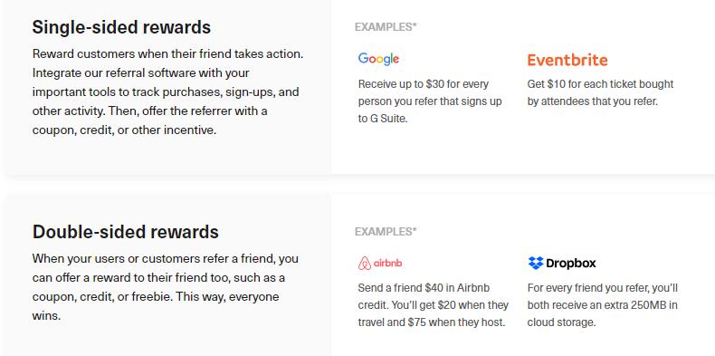 referral rewards examples