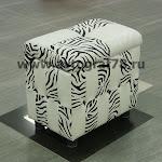 """Пуф """"Магнолия"""" 500 мм (Ткань Zebra)"""
