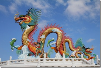flying dragons of China