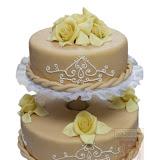12. kép: Esküvői torták - Esküvői kétszintes rózsás torta