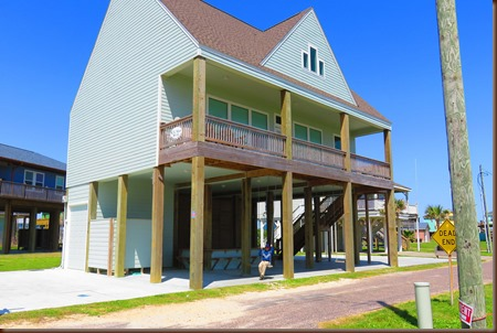 Hike Route Along Crystal Beach Arleen On This Home S Swing Nearly All Houses Are Built 20 Foot High Stilts For Hurricane Protection