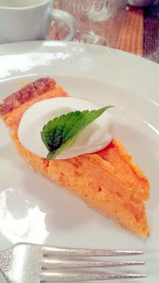 Sweet potato custard pie