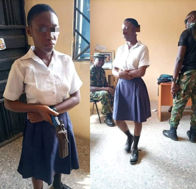 Shocking As Female Student In Cross River Goes To School With A Gun Allegedly To Kill Teacher Who Asked Her To Cut Her Coloured Hair