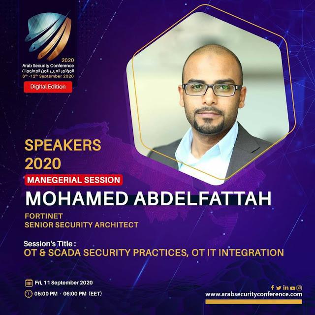 المؤتمر العربي لأمن المعلومات احد انجح المؤتمرات SCADA security Practices, OT IT integration