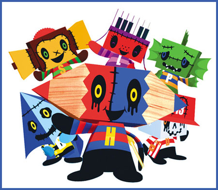 Midnight Horror School Papercraft Hikky Ampoo