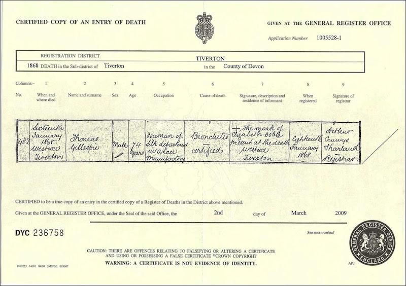 GILLESPIE_Thomas_1868_death cert_England