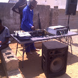 DJ at the event in Sikwane