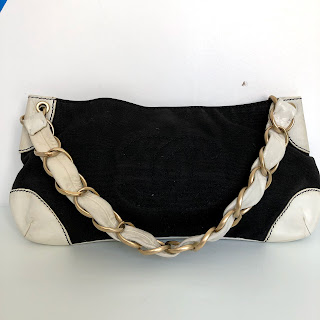 Chanel CC Canvas Pochette Shoulder Bag
