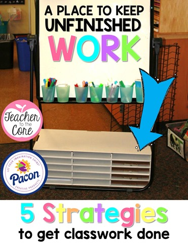 Pacon creates the best products for teachers. I used their paper sorter to keep and organize unfinished work, intervention work, and even guided reading materials