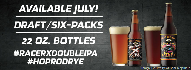 Bear Republic Brewing Company® Racer X® and Hop Rod Rye™ Seasonal Beers Releasing in July