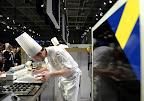 Alexander Sjögren svéd séf a Bocuse d'Or szakácsverseny európai döntőjén, 2016 (MTI Fotó: Kovács Tamás)