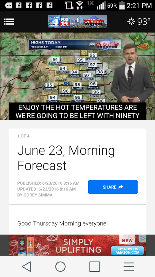 KAMR LOCAL4 WEATHER- screenshot
