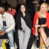 OIC - ENTSIMAGES.COM - Joe, Mariah Idrissi and Shanie Ryan at the  LFW a/w 2016: Barrus - catwalk show London 19th February 2016 Photo Mobis Photos/OIC 0203 174 1069