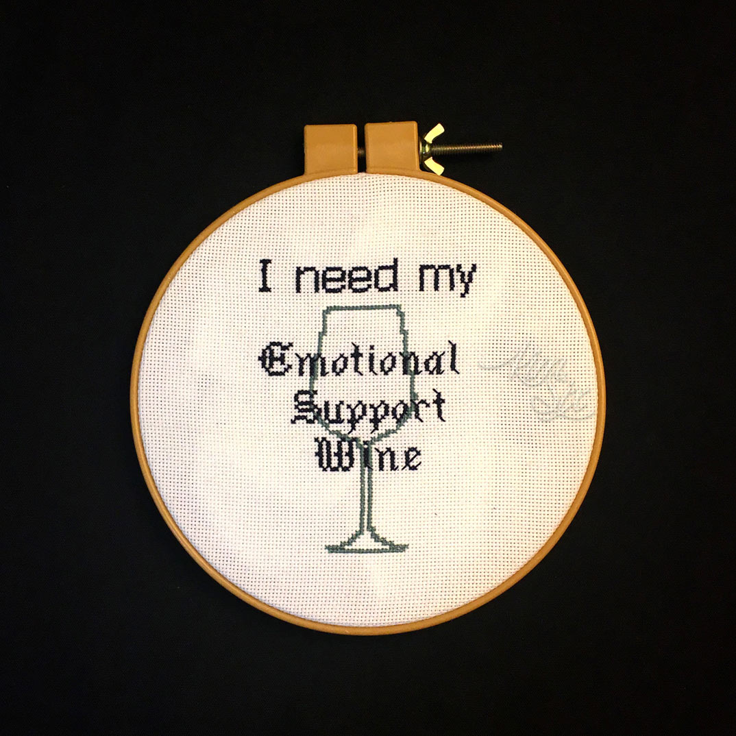 Funny wine cross stitch
