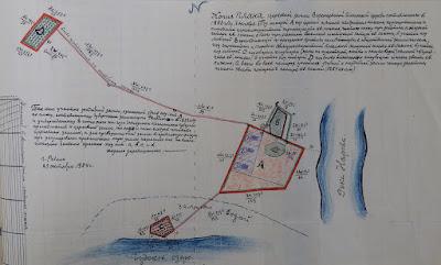 Копия с плана церковной земли 1853 г.(из собрания Таллинского национального архива)