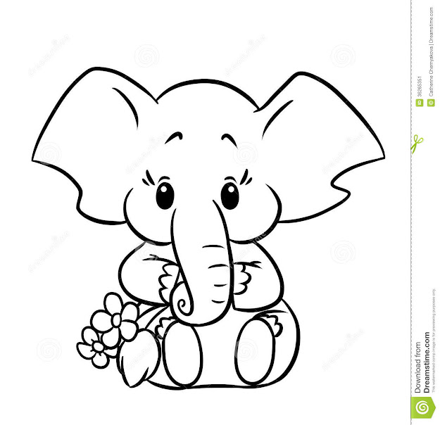 Cute Baby Elephant Coloring Pages  See More About Cute Baby Elephant Coloring  Pages Cute Baby Elephant Coloring Pages