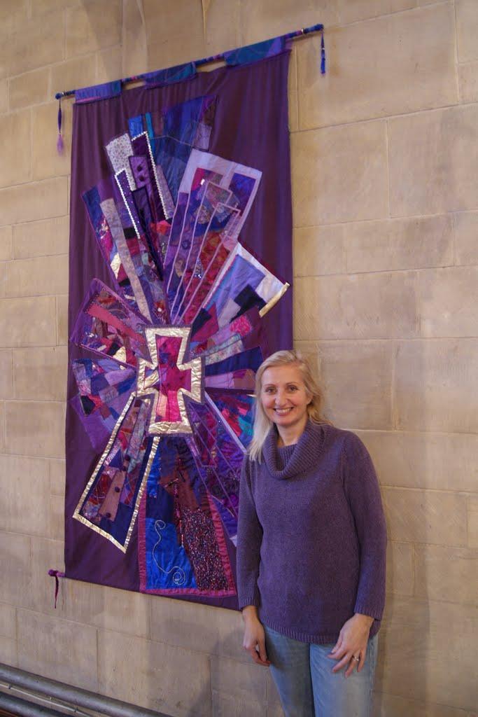 Purple Textile Art Piece 2283x3426