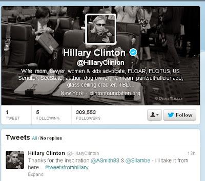 米前国務長官のヒラリー・クリントン氏、Twitterを開始。既にフォロワー30万突破