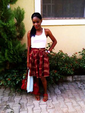 girl, ankara skirt