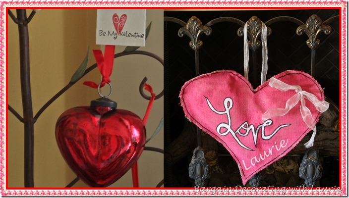Valentine Decor-Bargain Decorating with Laurie