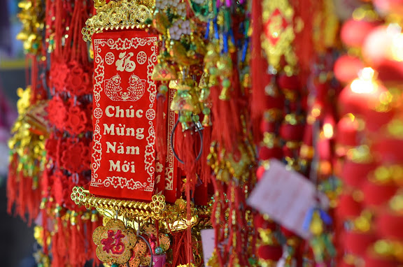 Tet decorations. From Vietnam: 100 Unusual Travel Tips and a Guide to Living and Working There