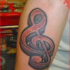 forearm treble clef - Music Tattoos