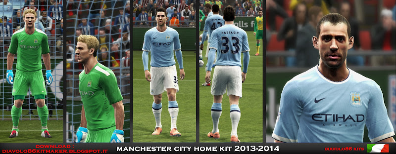 Manchester City 2013-14 Home Kit - PES 2013