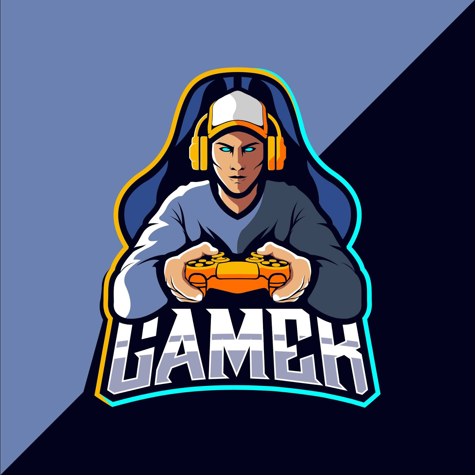 Gamer Esport Logo Design Free Download Vector CDR, AI, EPS and PNG Formats
