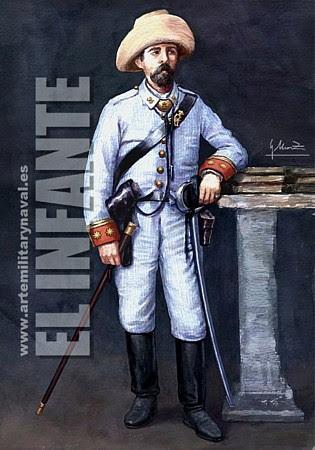 Infantería Cuba. 1890