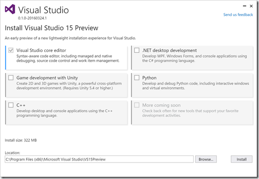 visualstudiopreview