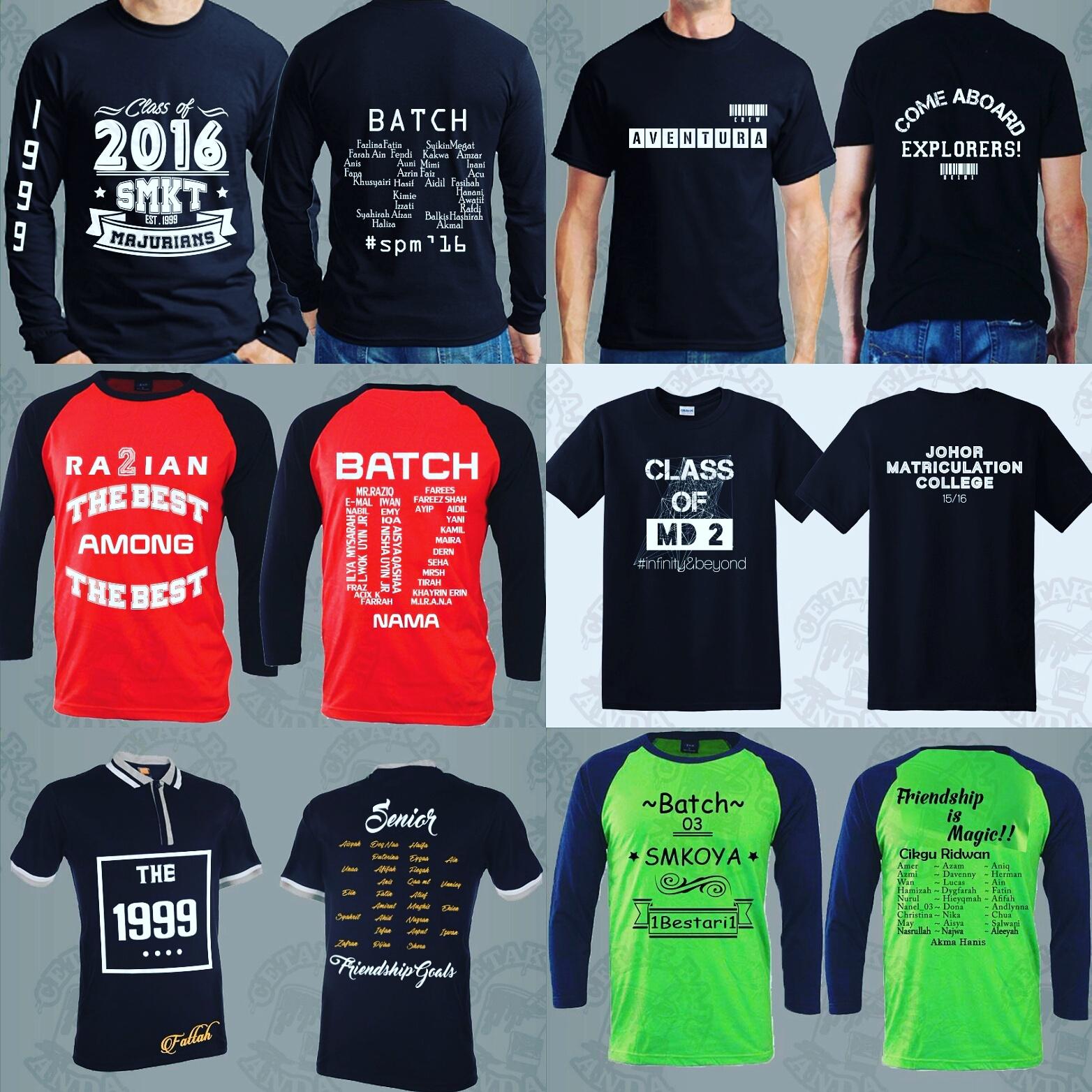 Contoh design tshirt kelas - T Shirt Kelas Desain Design T Shirt Untuk Kelas Tentang Saiz Jangan Risau Kami Telah