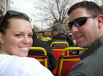 Susan and Jeff on the top of the double decker bus