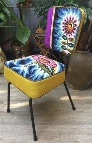 nathalie gagneux cr ations chaise vintage de coiffeur et canevas vendu. Black Bedroom Furniture Sets. Home Design Ideas