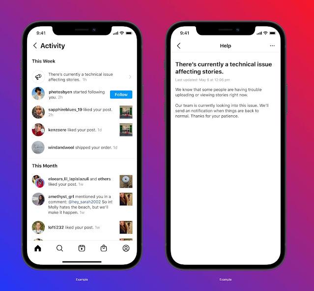 Instagram: nuove funzionalità per verificare violazioni e interruzioni