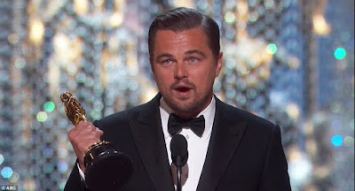 Leonardo DiCaprio wins Oscar, tells world to stop climate change