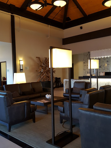 Gorgeous lobby! From Where to Stay - and Eat - in Miramichi, New Brunswick: the Rodd Hotel and Resort, and their fantastic 1809 Restaurant