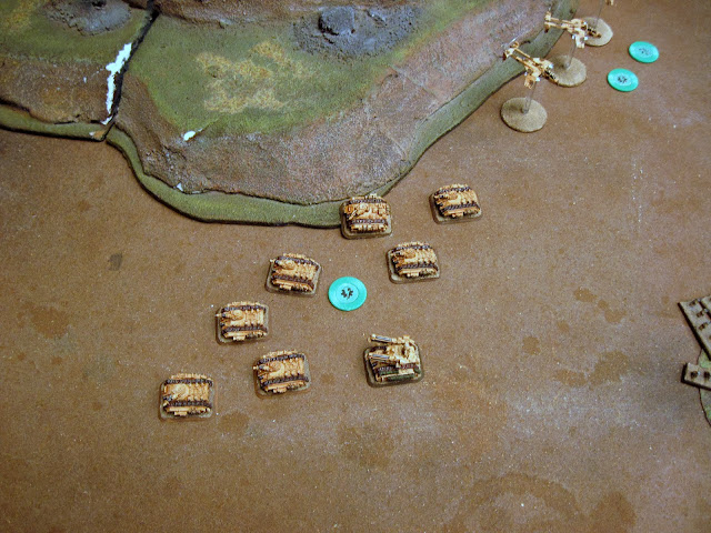 A Mech coy fails to activate, so it moves with the infantry mounting up (balls to the wall).