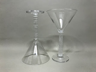 Salviati Martini Glass Pair