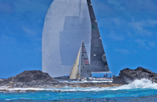 J/95 Shamrock VII setting new large white spinnaker- unrated!