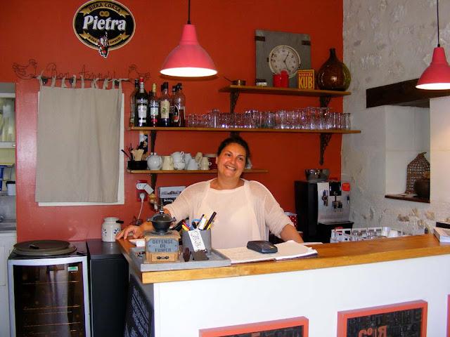 Restaurant reception, Azay le Rideau, Indre et Loire, France. Photo by Loire Valley Time Travel.