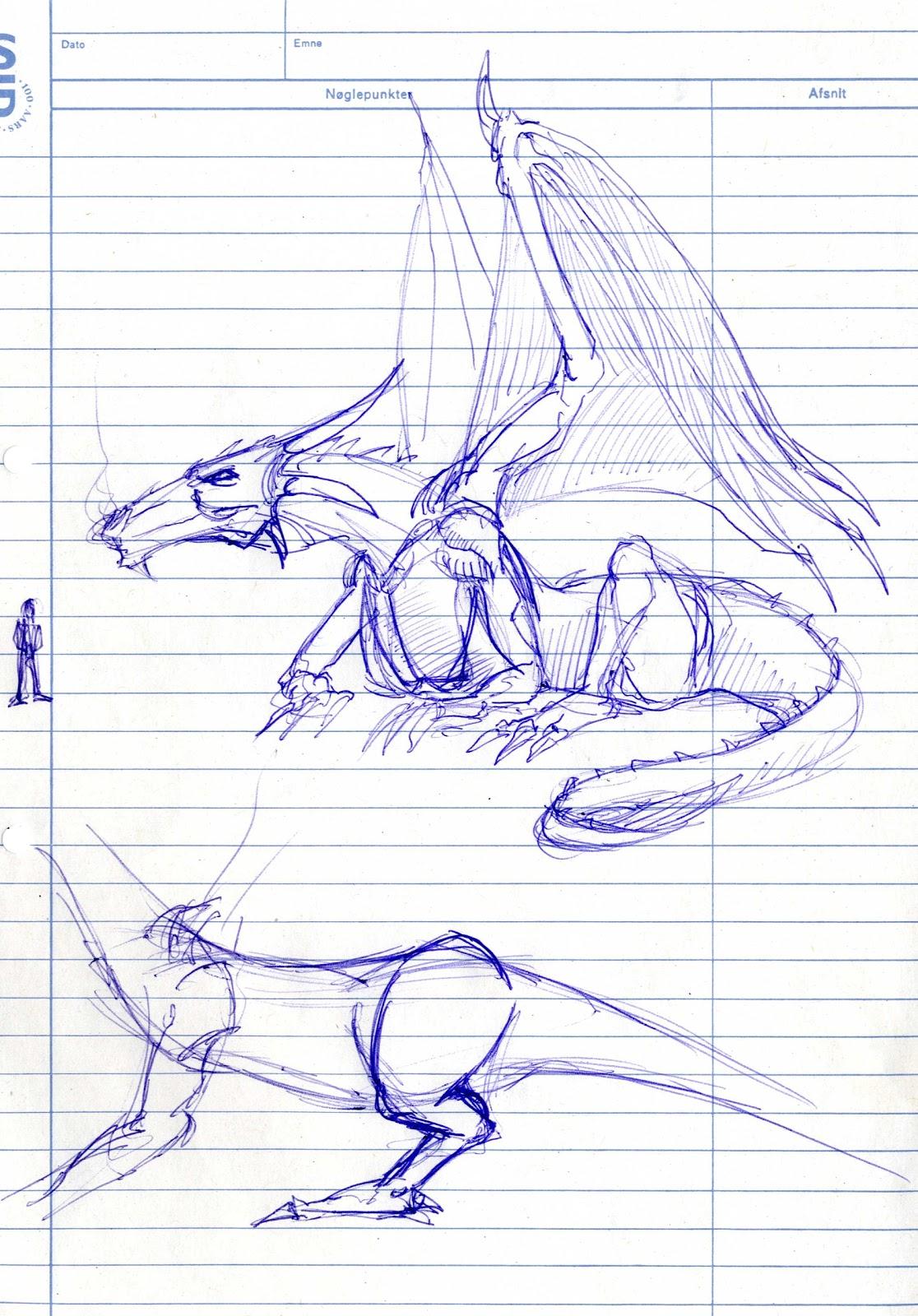 fnukblog third dragon sketch proportions