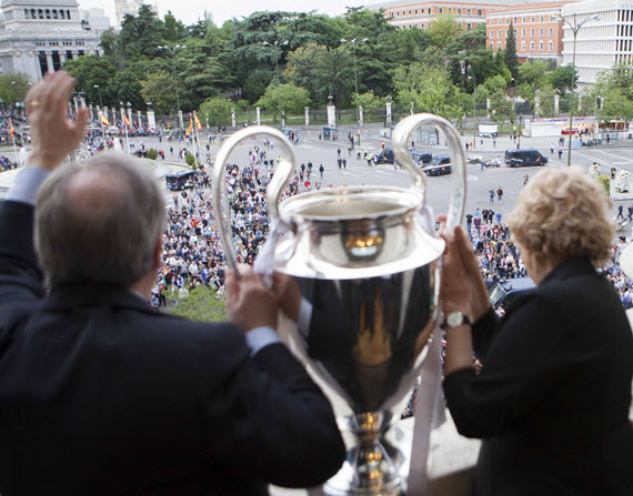 Madrid celebra la Champions League 2016 del Real Madrid'