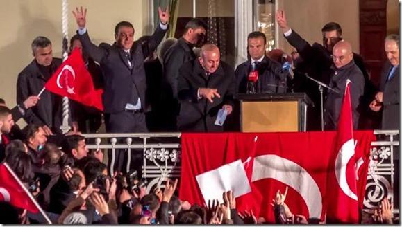 Muslimbruderschaft und Wolfsgruß Türken