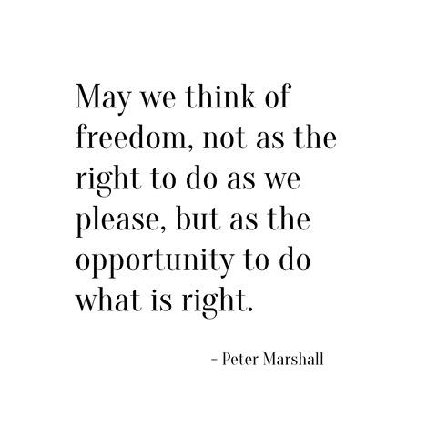 freedom -- peter marshall