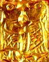 An Embossed Gold Plate Of Freyr, Asatru Gods And Heroes