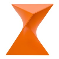 LeisureMod Randolph vanity stool orange