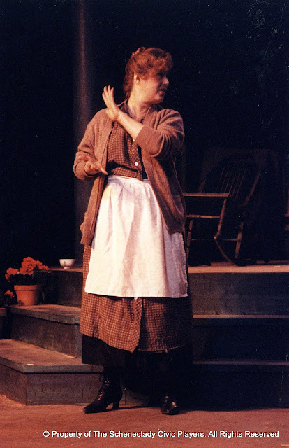Donna Newton in LOOK HOMEWARD, ANGEL (R) - March 1994.  Property of The Schenectady Civic Players Theater Archive.