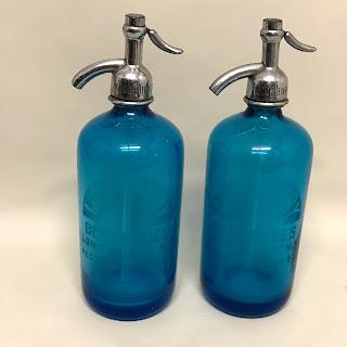 Pair of Blown Glass Seltzer Bottles