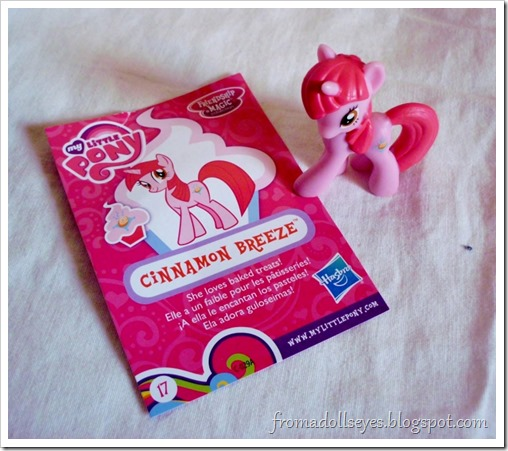 My Little Pony blind bag figure, Cinnamon Breeze.