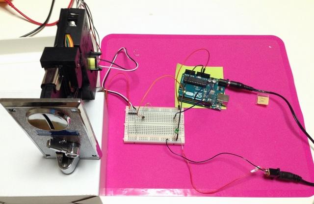 格安コインセレクターを、Arduinoに接続してみた